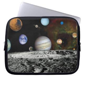 Solar System Voyager Images Montage Computer Sleeve