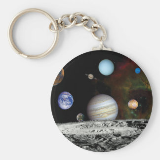 Solar System Voyager Images Montage Keychain