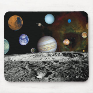 Solar System Voyager Images Montage Mouse Pad