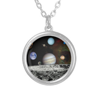 Solar System Voyager Images Montage Personalized Necklace