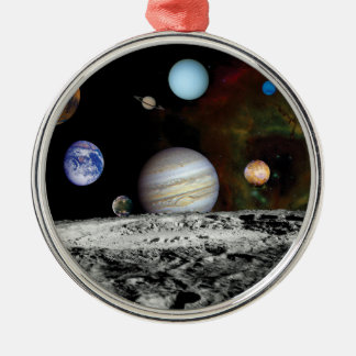 Solar System Voyager Images Montage Christmas Tree Ornament