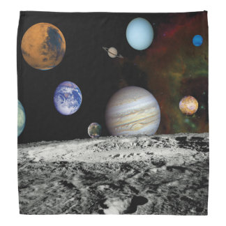 Solar System Voyager Images Montage Space Photos Bandana