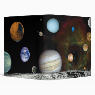 Solar System Voyager Images Montage Space Photos Binder