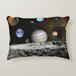 Solar System Voyager Images Montage Space Photos Decorative Pillow