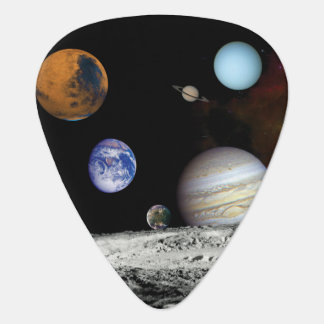 Solar System Voyager Images Montage Space Photos Guitar Pick