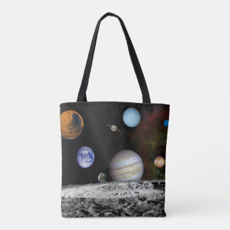 Solar System Voyager Images Montage Space Photos Tote Bag