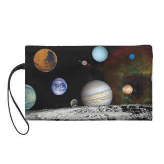 Solar System Voyager Images Montage Space Photos Wristlet Purse
