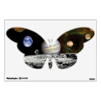 Solar System Voyager Images Montage Wall Sticker