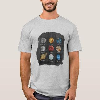 Solar System Watercolor Men's TShirt