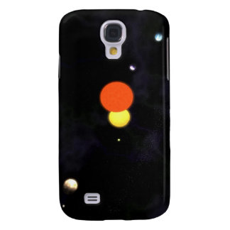Solar system with a binary star and four planets samsung galaxy s4 cover