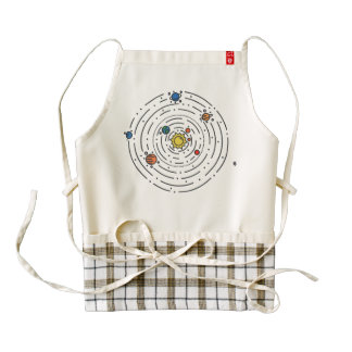 Solar System Zazzle HEART Apron