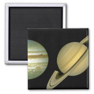 Solar Sytem ~ Long View 2 Inch Square Magnet