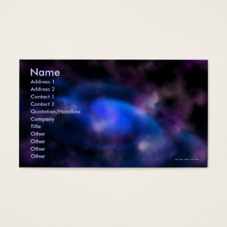 Solar Twister Business Card Template
