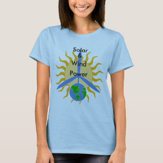 Solar, &, Wind, Power_Women's Shirt