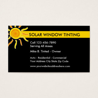 Solar Windows Tinting Business Card
