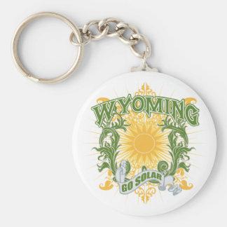 Solar Wyoming Basic Round Button Keychain