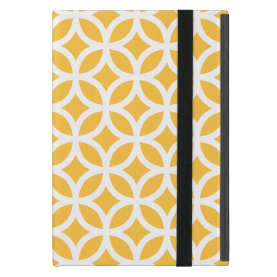 Solar Yellow Geometric iPad Mini Covers