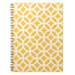 Solar Yellow Geometric Notepad Note Book