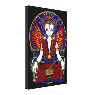 """Solara"" Goddess Fire Angel Wrapped Canvas Print"