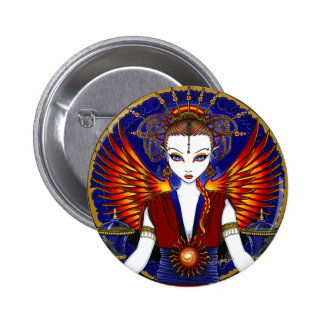 """Solara"" Sun Goddess Fire Angel Button"