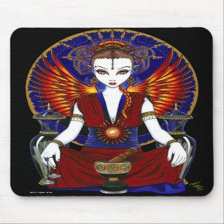"""Solara"" Sun Goddess Fire Angel Mousepad"