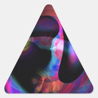 Solaria Colorful Abstract Fantasy Triangle Sticker