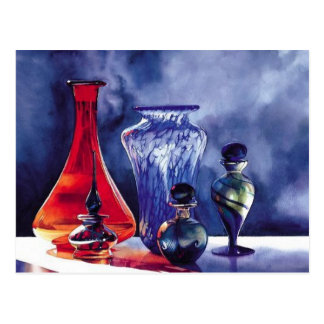 """Solaris"" Art Glass Still Life Postcard"