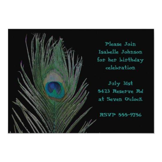 Solarized Peacock Birthday Card
