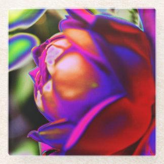 Solarized Rose Glass Coaster