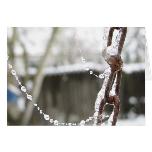 Solas cadena y perlas felicitacion