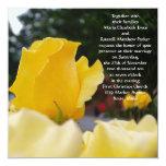 Solas invitaciones del boda del rosa amarillo anuncio personalizado