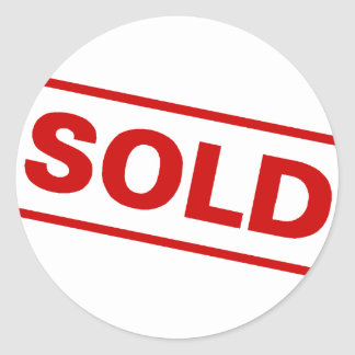 Sold Classic Round Sticker