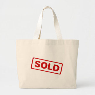 Sold Large Tote Bag