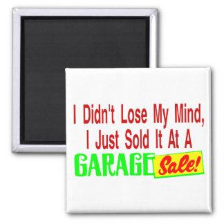 Sold Mind At Garage Sale 2 Inch Square Magnet