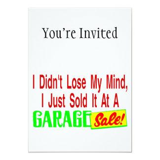 Sold My Mind At Garage Sale 5x7 Paper Invitation Card