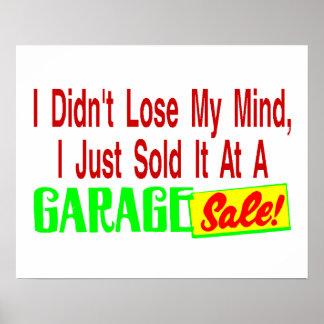 Sold My Mind At Garage Sale Poster
