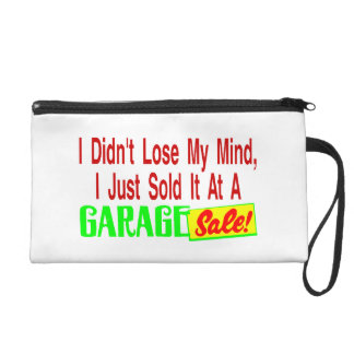 Sold My Mind At Garage Sale Wristlet Purse