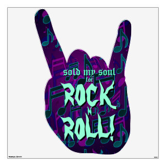 Sold My Soul For Rock N Roll Purple Blue Green Room Decal