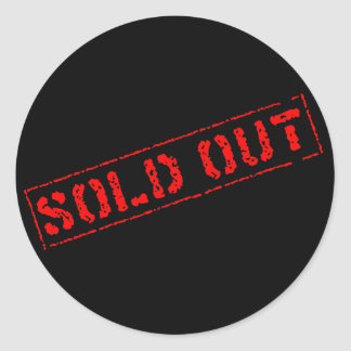 Sold Out Classic Round Sticker