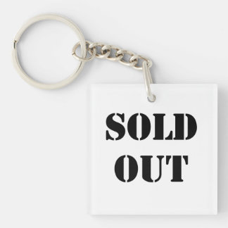 Sold Out Double-Sided Square Acrylic Keychain