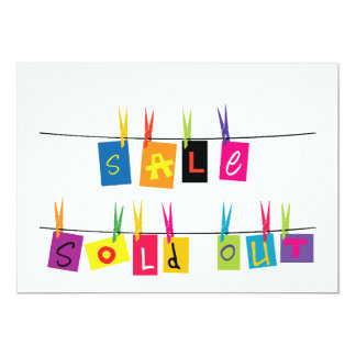 Sold Out Sign Invitations