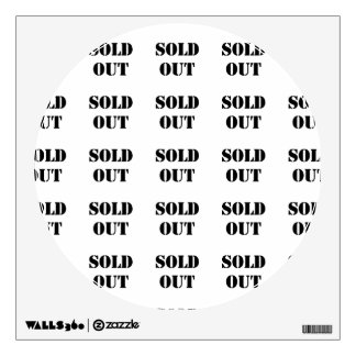 Sold Out Wall Decal