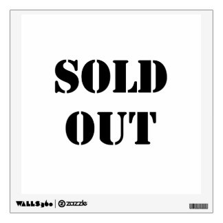 Sold Out Wall Sticker
