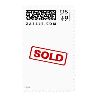 Sold Postage Stamp
