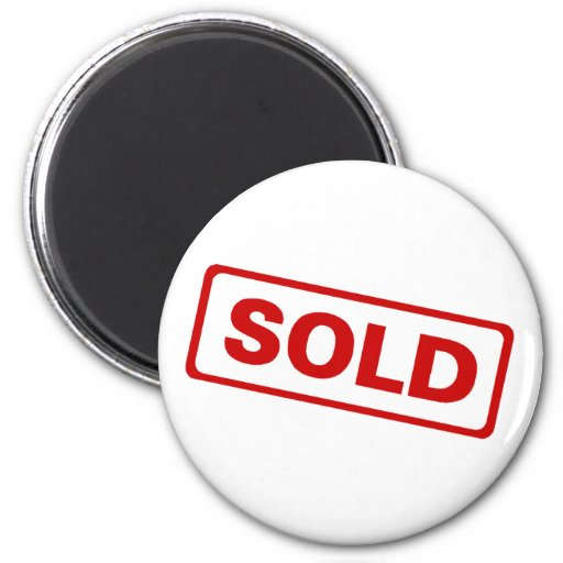Sold Sign 2 Inch Round Magnet
