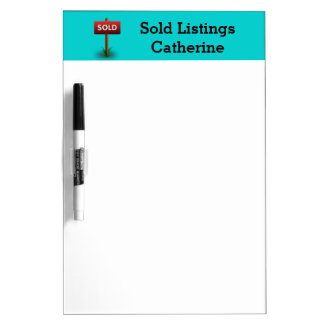 Sold Sign Realtor Listings Personalized Wording Dry Erase Board