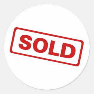 Sold Sign Classic Round Sticker