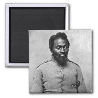 Soldado afroamericano de la guerra civil, 1861 imán cuadrado