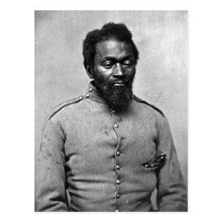 Soldado afroamericano de la guerra civil, 1861 postal