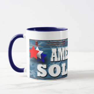 Soldado americano taza